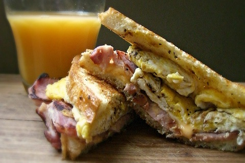 Ham Egg Cheese Breakfast Sandwich