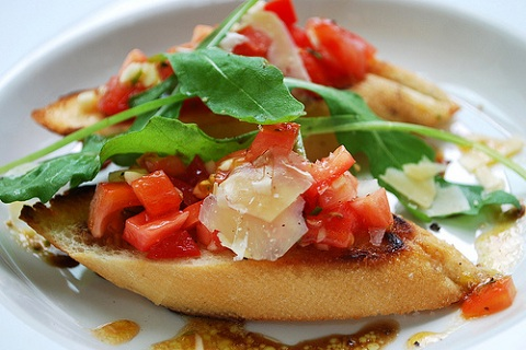 Tomato and Parmesan Bruschetta