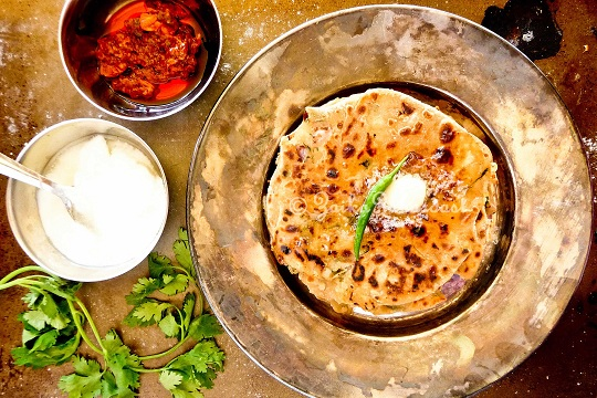 Aloo Paratha (Potato Stuffed Flat Breads)