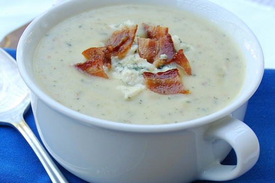 Blue Cheese, Bacon and Potato Soup