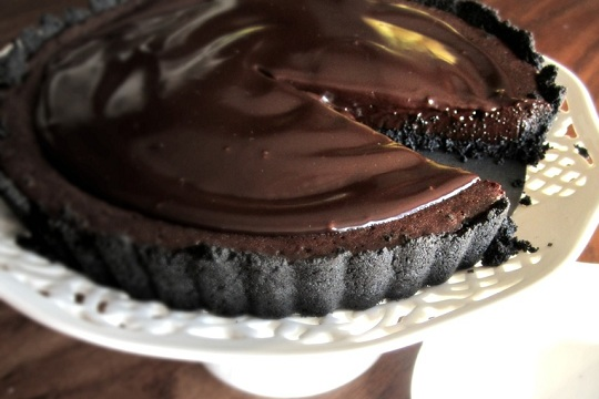 Chocolate Truffle Tart with Chocolate Glaze