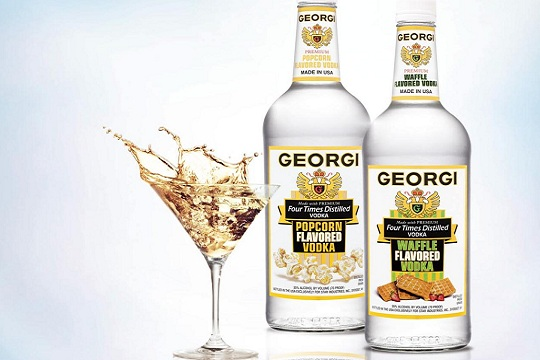Georgi Waffle Vodka and Popcorn Vodka