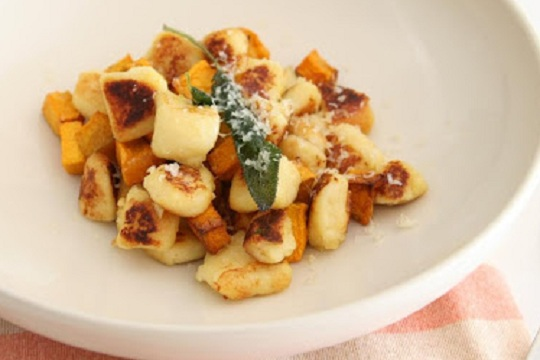 Gnocchi and Roast Pumpkin and Sage
