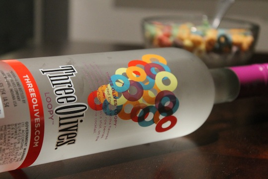 "Three Olives ""Loopy"" Froot Loops Flavored Vodka"
