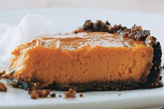 Sweet Potato Pie with a Gingersnap Pecan Crust