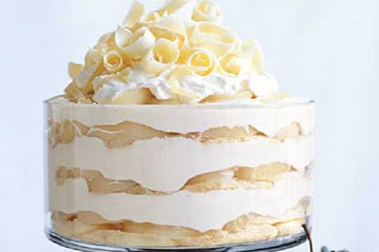 White Chocolate Tiramisu Trifle