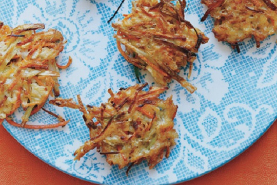 Parsnip, Leek, and Potato Latkes
