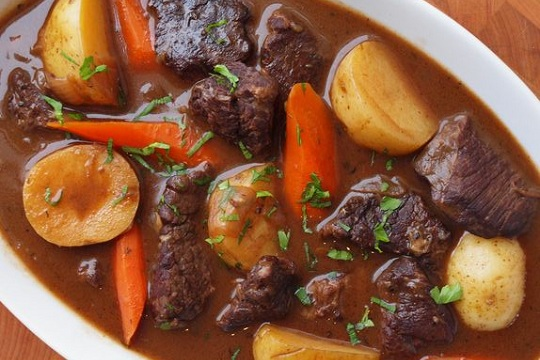 Beef Stew with Carrots & Potatoes from Once Upon a Chef