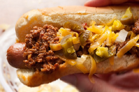 Bison Chili Cheese Dogs from Chow Photo by By Lisa Lavery