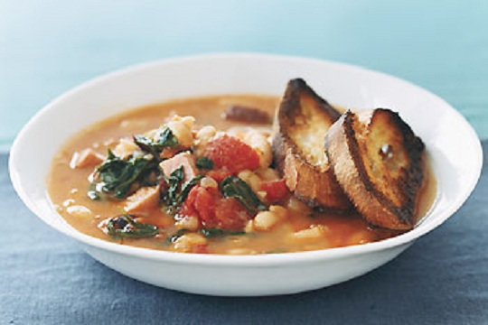 Fast White Bean Stew from Epicurious Photo by Romulo Yanes