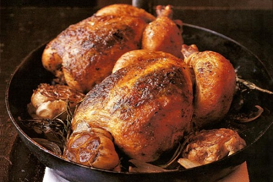 Roast Chicken for Two, um, Four