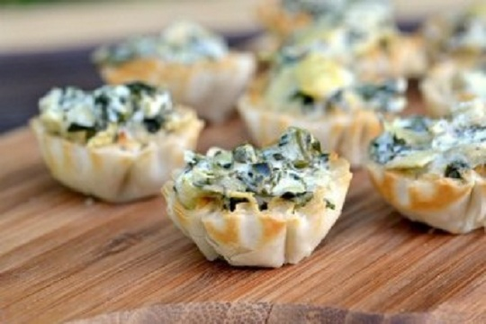 Spinch Phyllo Cups Photo by Phyllo