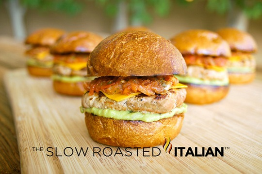 Tex-Mex Turkey Burger Slider from The Slow Roasted Italian