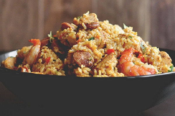 Chicken, Sausage, and Shrimp Jambalaya from The Candid Appetite