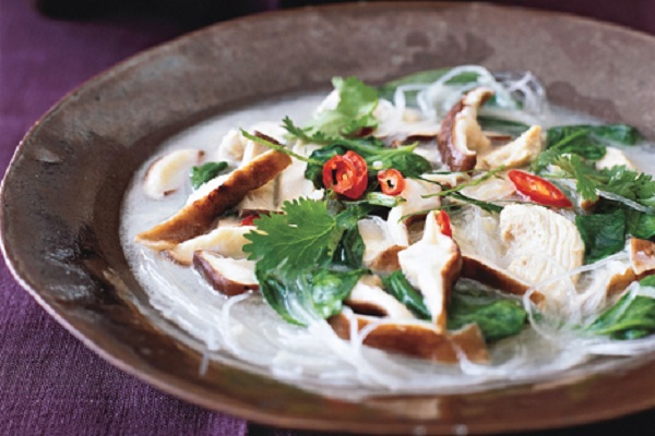 Thai Chicken-Coconut Soup from Epicurious Photo by Ann Stratton