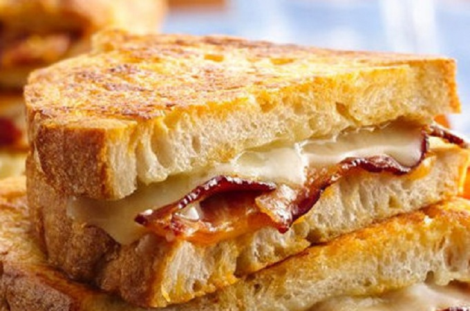 Bacon Battered Grilled Cheese from My Recipes