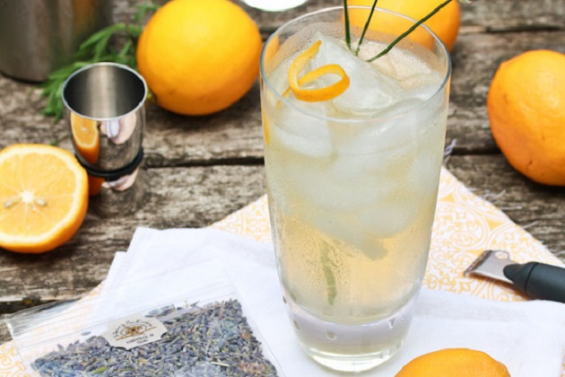 Lavender Meyer Lemon Tom Collins from A Spicy Perspective