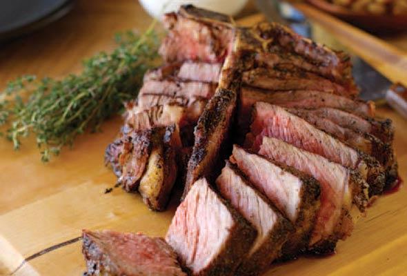 Thyme-Smoked Four-Inch Porterhouse Steak from Leite's Culinaria